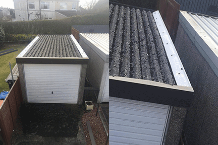 Asbestos Removal Cost Garage Roof >> Garage Roof Repair Replacement Glasgow Lanarkshire